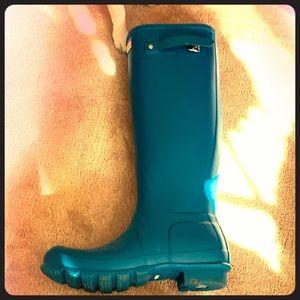 Hunter rain boots turquoise